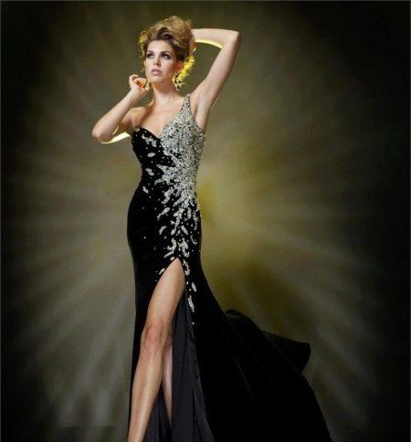 Вечернее платье от Tony Bowls с разрезом