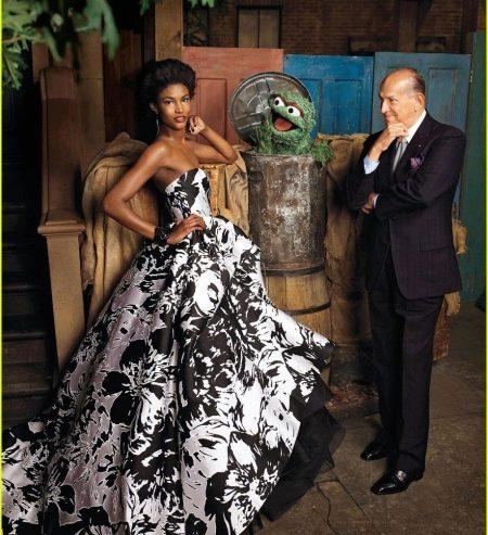 Вечернее платье от Oscar de la Renta цветное