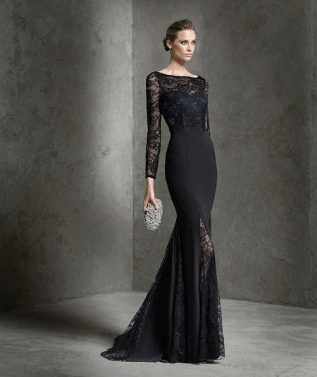Вечернее платье от pronovias черное