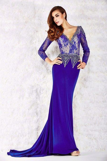 Вечернее платье от Angela & Alison синее