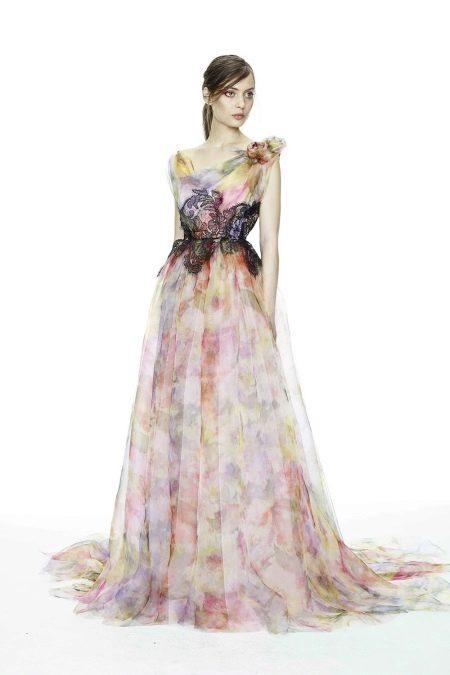 Вечернее платье от Marchesa в пол