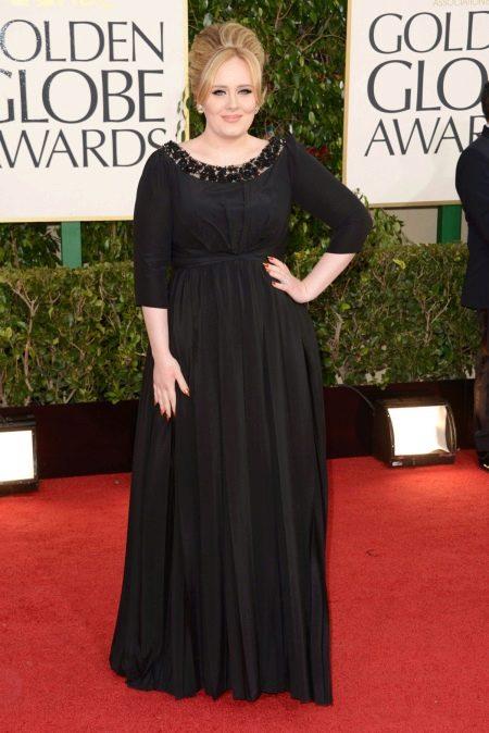 Вечернее платье длинное для полных черное