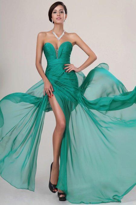 Изумрудное платье сексуальное