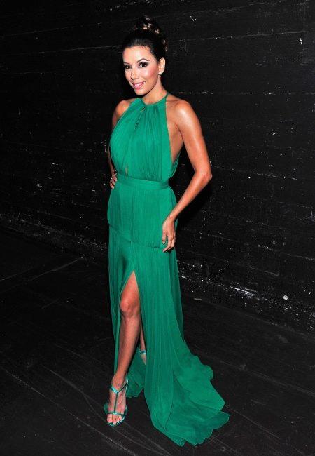 Ева Лонгория в изумрудном платье