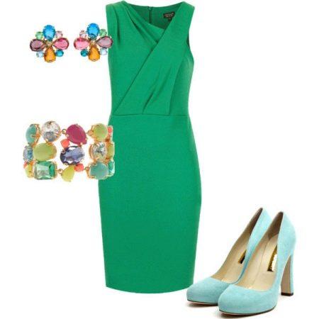 Изумрудное платье и небесные туфли