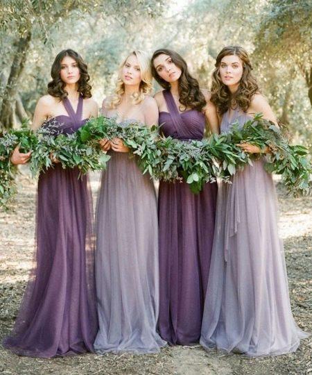 Лавандовые платья - подружки невесты