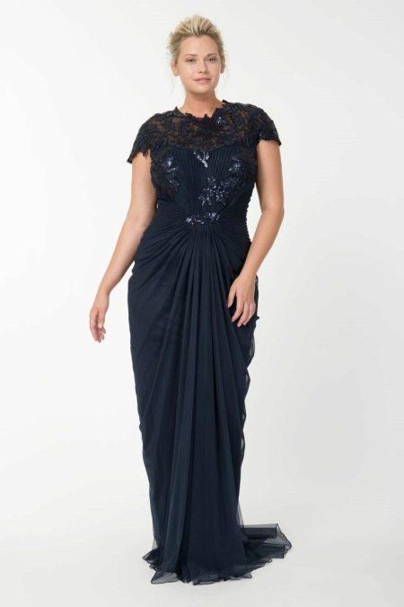 Модное платье вечернее для полных