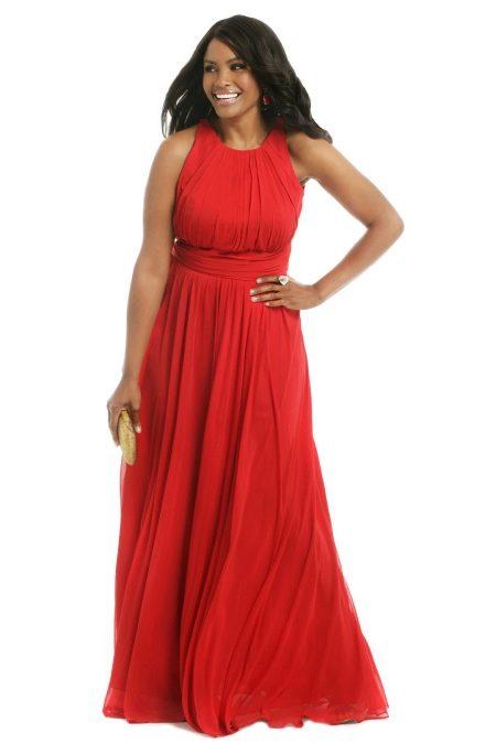 Вечернее платье от Badgley Mischka красное