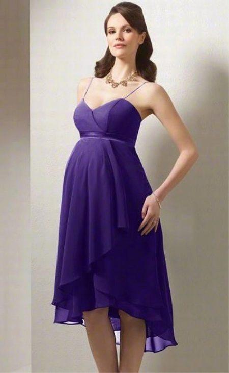 Сиреневое вечернее платье для беременных