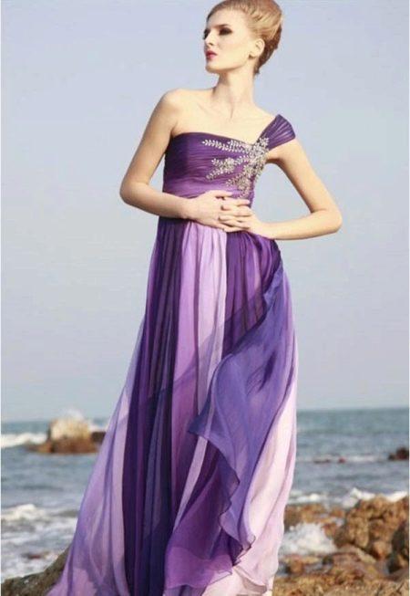 Сиреневый, фиолетовый и лавандовый в вечернем платье
