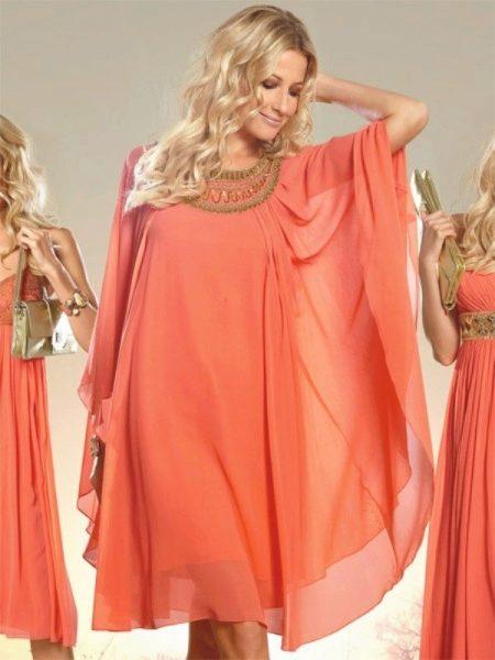 Платье вечернее для беременных укороченное греческое