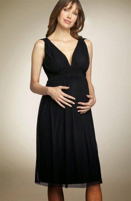Вечернее платье в стиле ампир для беременных
