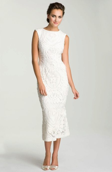 Вечернее кружевное платье для женщин 50 лет