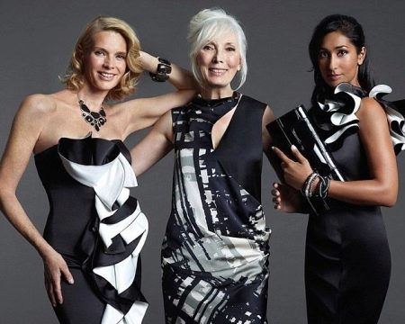 Вечерние платья с воланами для женщин 50 лет