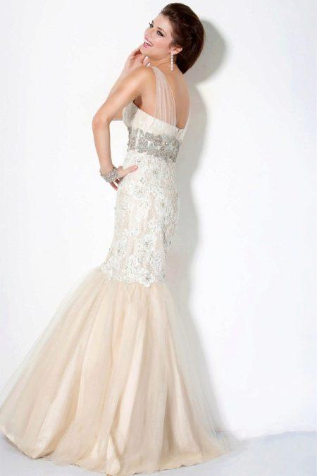 Вечернее платье русалка с клатчем