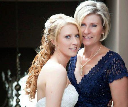 Вечернее платье для мамы невесты синее