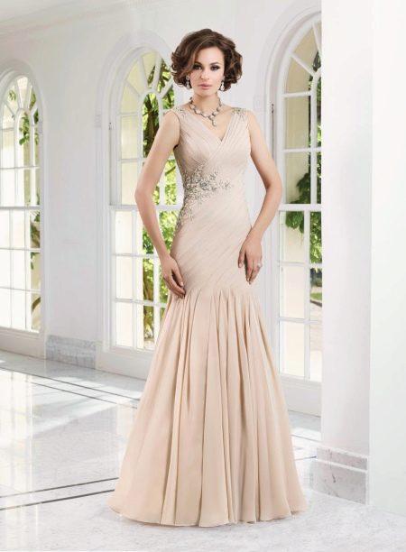 Платье русалка для мамы невесты
