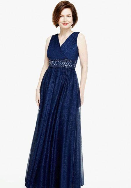 Вечернее платье синее для мамы жениха