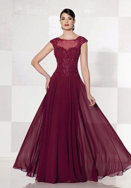 Вечернее платье для мамы жениха из шифона
