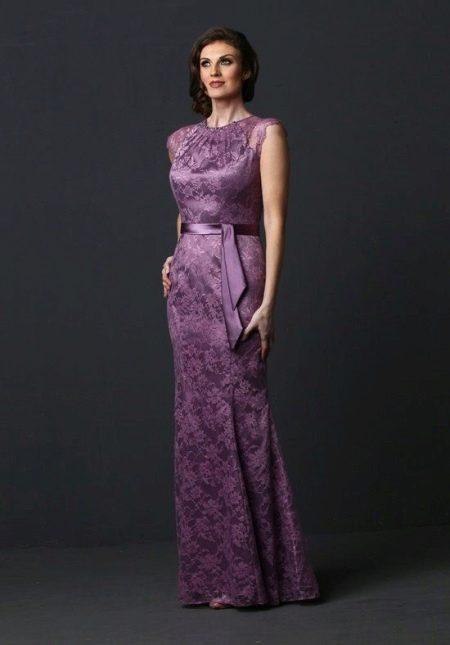 Фиолетовое вечернее платье для мамы жениха