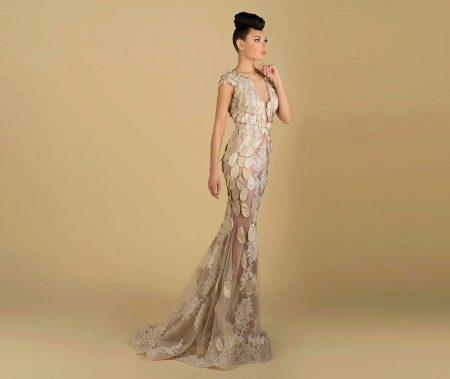 Вечернее платье русалка с паетками