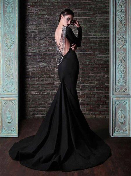 Платье вечернее полосатое русалка