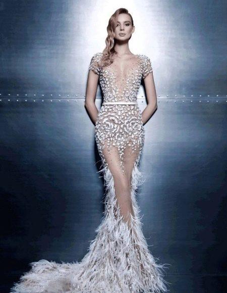 Платье русалка с хвостом в виде чушуек