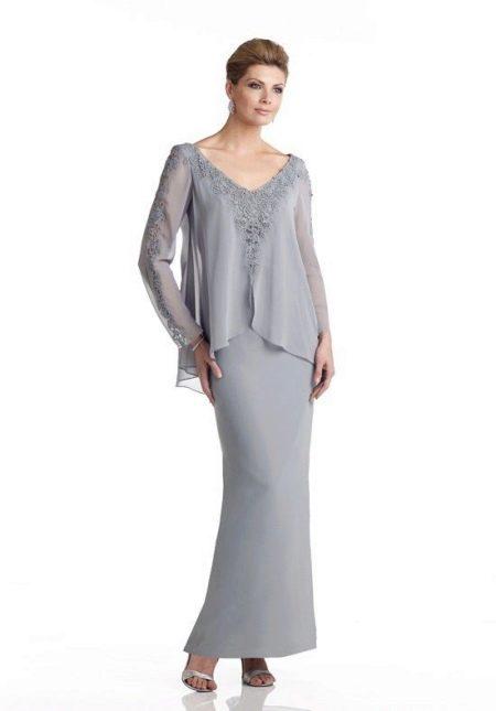 Вечернее платье для 50 летних женщин с рукавами