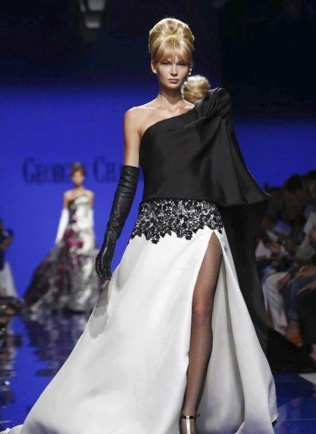 Вечернее платье в пол с одним рукавом
