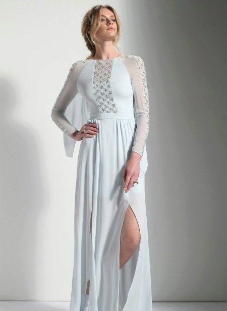 Вечернее платье с рукавом реглан в пол