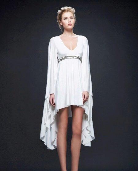 Вечернее платье в греческом стиле укороченное