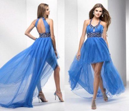 Вечернее греческое платье короткое спереди и длинное сзади