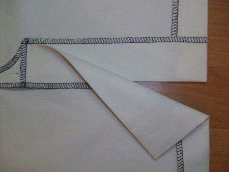 Выполнение шлицы на юбке