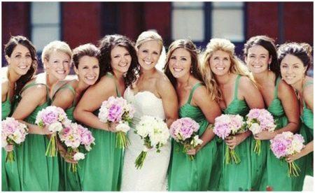 Зеленое платье для подружки невесты