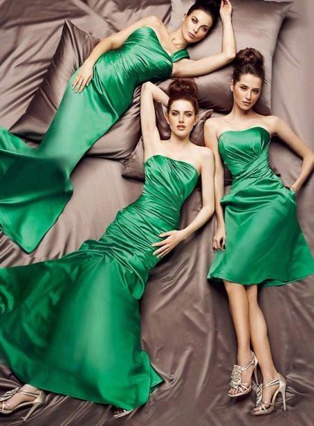 Вечернее зеленое платье от Тарик Эдис
