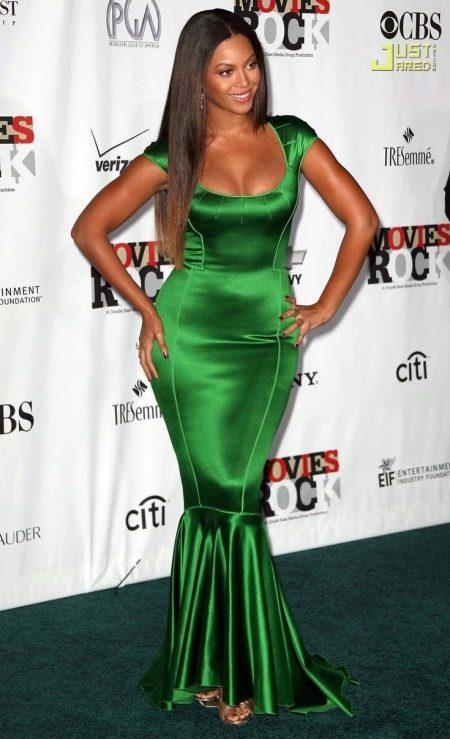 Вечернее платье зеленое для полных русалка
