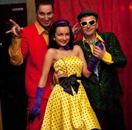 Стиляги - желтое платье