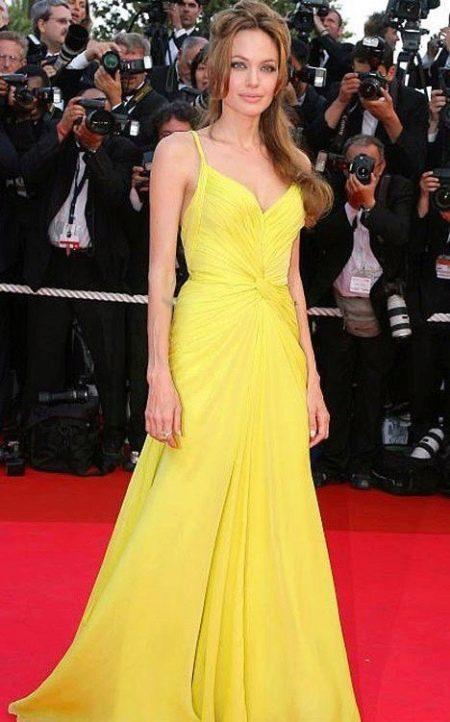 Желтое вечернее платье Анджелины Джоли