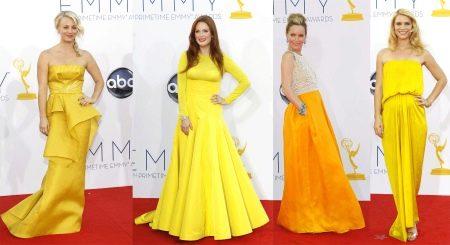 Желтые вечерние платья звезд