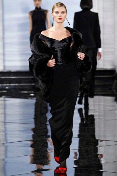 Вечернее платье русалка черное