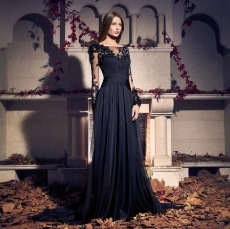 bcbad540e57 Черные вечерние платья  в пол
