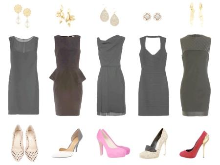 Аксессуары для черного платья