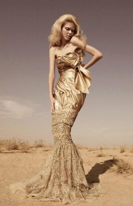 Свадебное платье под цвет золота