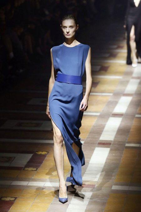 Вечернее платье от Lanvin синее