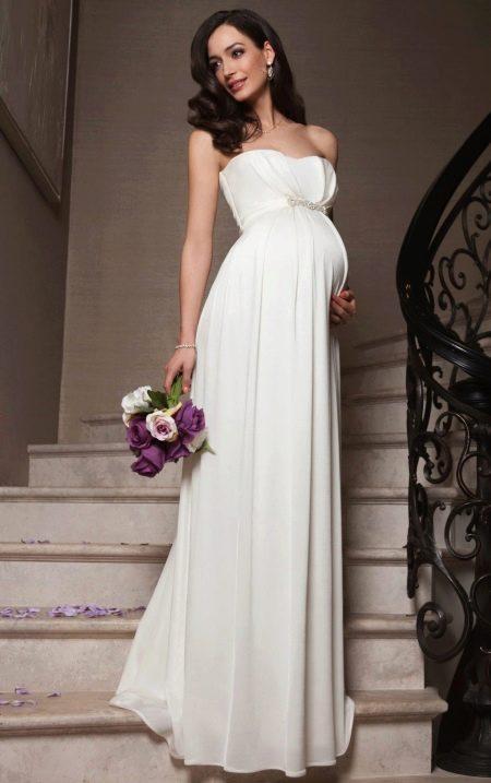 Свадебное платье ампир для беременных
