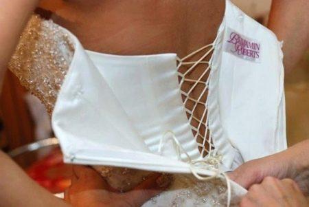 Свадебное платье с скрытым корсетом