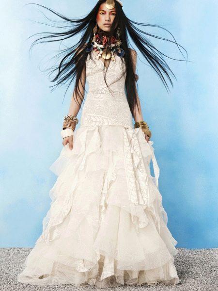 кружевное свадебное платье в стиле бохо