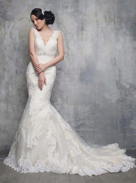 Свадебное платье русалка свадебное со шлейфом