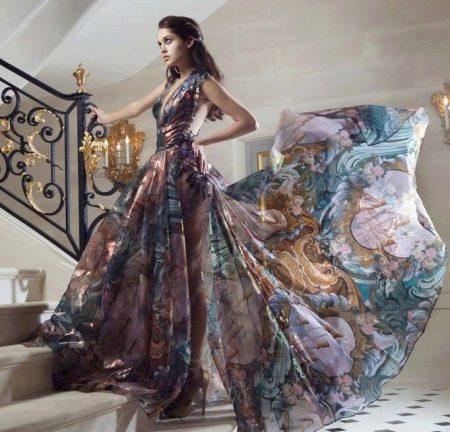 Легкое шифоновое вечернее платье