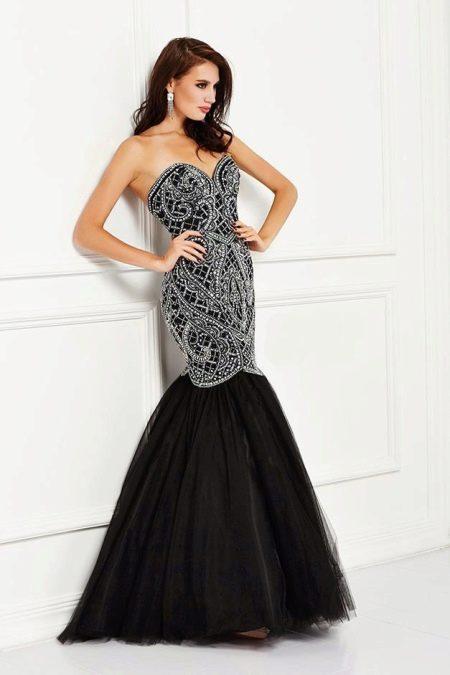 Шламурное вечернее платье русалка